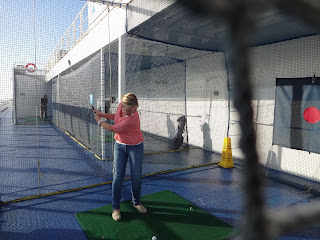 Golf on a cruise ship