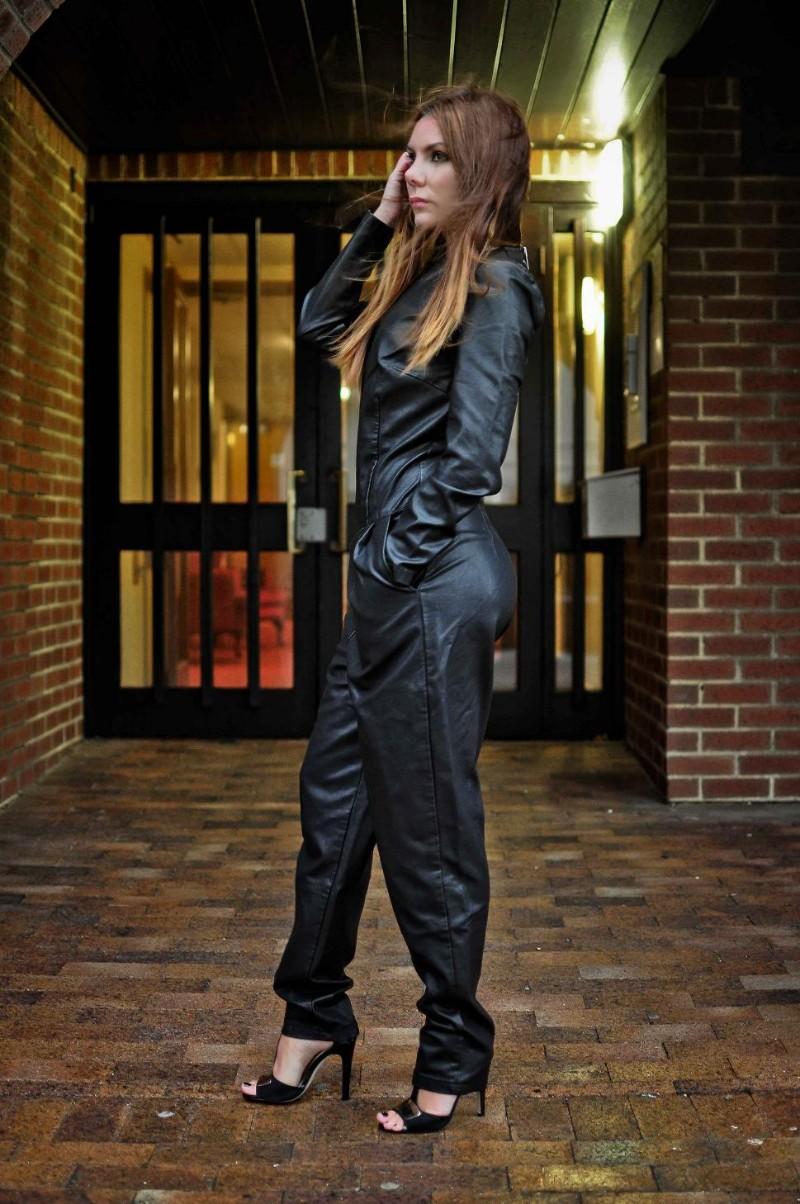 Simona Mar Faux Leather Boilersuit