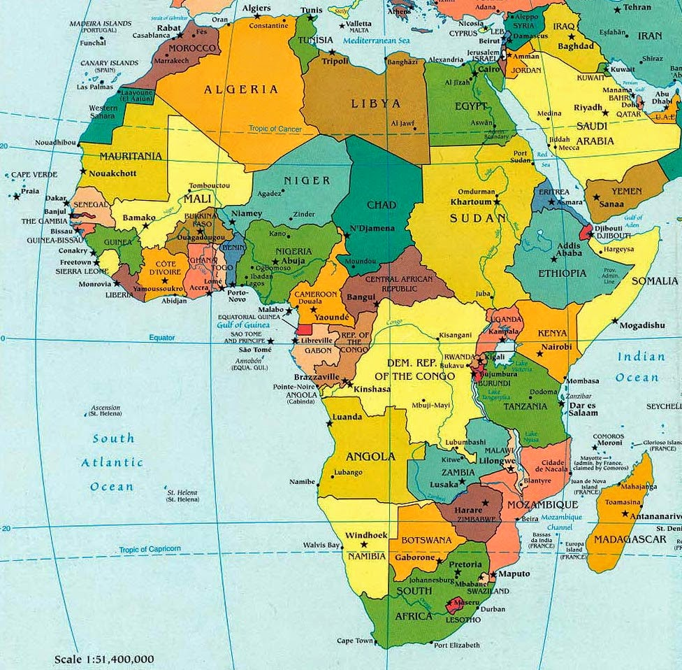 Africa Immagini Cartina.Work In Progress Stati E Capitali Dell Africa