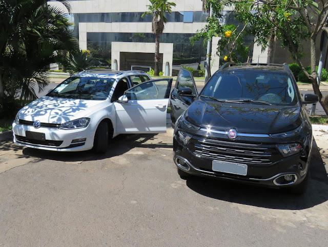 Fiat Toro Flex x Volkswagen Golf Variant