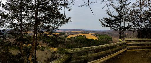 Overlook at the top of the Hemlock Trail at Mt. Pisgah Hemlock Hardwoods Natural Area - Ontario WI