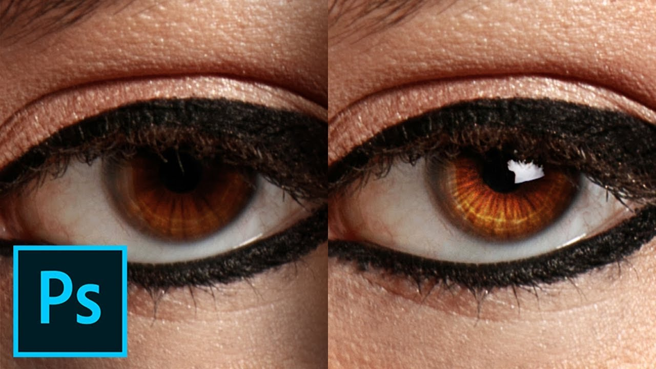 Add Brilliant Catchlights Details to Eyes in Photoshop