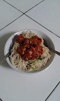 cara membuat mie ayam bumbu spageti