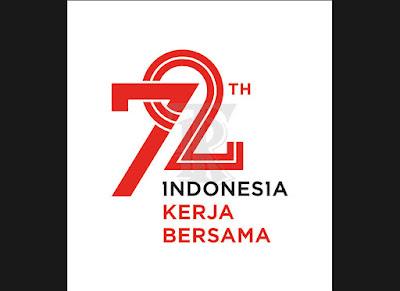 logo resmi HUT ke-72 RI - www.topikramdani.com
