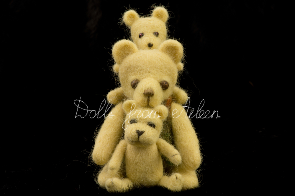 ooak needle felted teddy bears