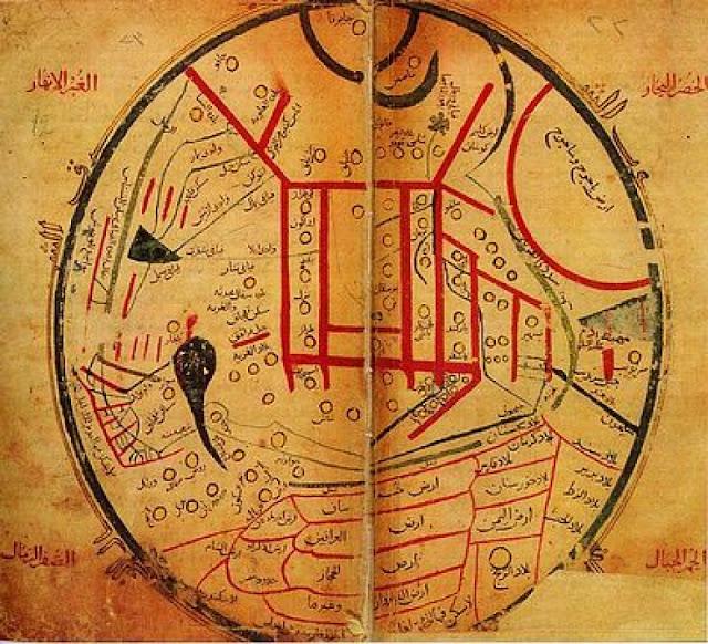 كالتشر-عربية-خارطة-قديمة-أرض-يأجوج-ومأجوج