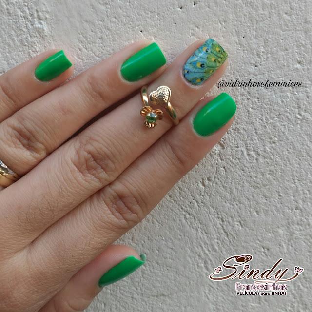 esmalte jade alto astral greenery pantone 2017 adesivo pavão