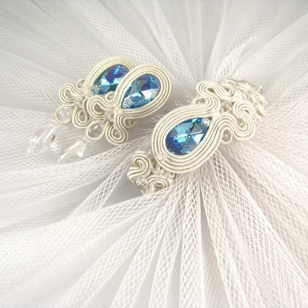 Delikatna biżuteria ślubna sutasz, komplet