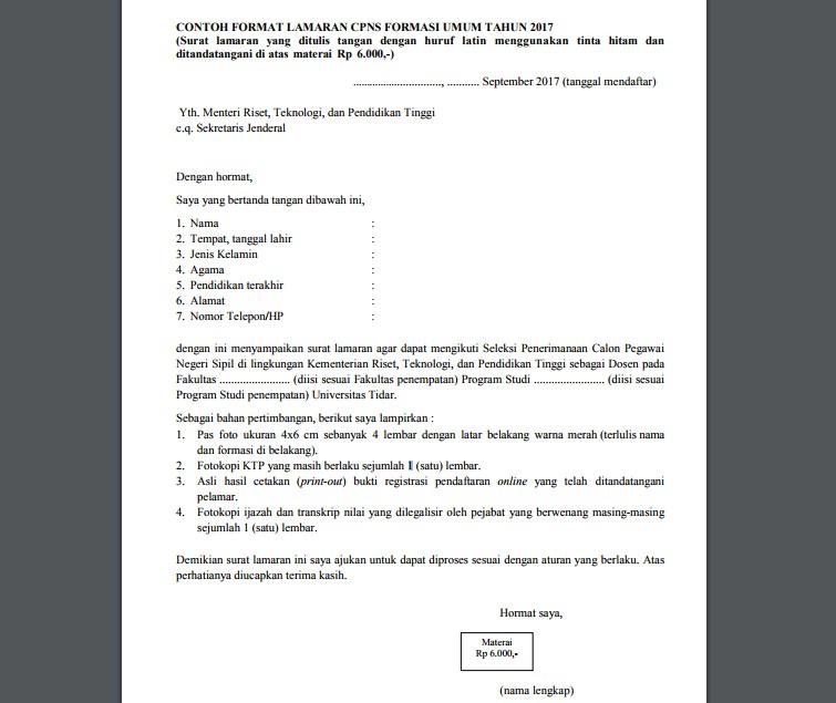 Contoh Surat Lamaran Dibahas Dengan Lengkap Lengkap Contoh Surat