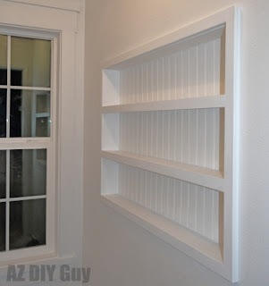 DIY Recessed Shelving
