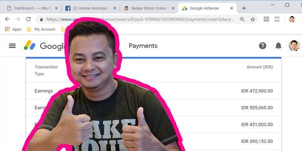 Tak Kalah dari Komisi Youtube Adsense Mas Andrie Andropia!