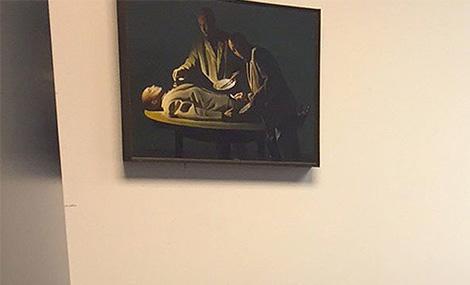pintura en la oficina de tony podesta