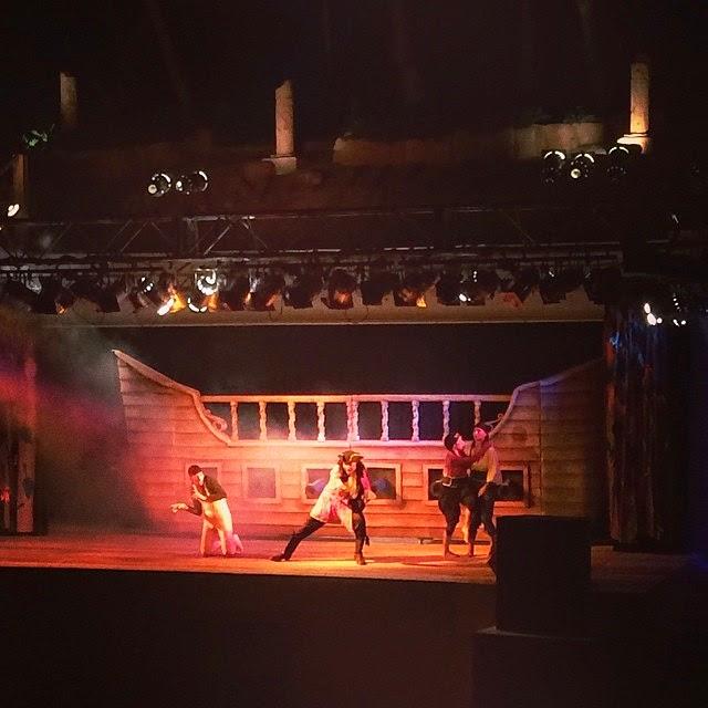 Foto del Espectáculo nocturno. Camping Sangulí | caravaneros.com
