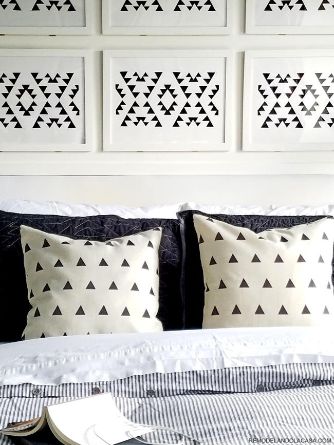 Fall decor in black and white for the bedroom