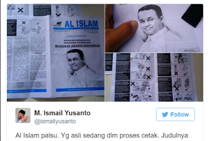Beredar Buletin Al-Islam Palsu Dukung Anis, HTI:Yang Asli Masih Dicetak dan Judulnya Bukan Itu
