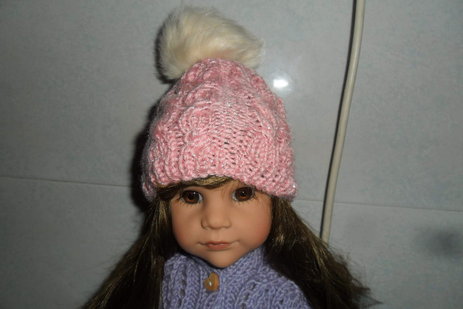 Olive Groves and Doll Knits: Lamè doll hat knitting pattern