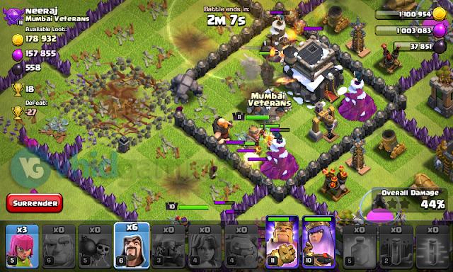 Clash of Clans - Golem Attack