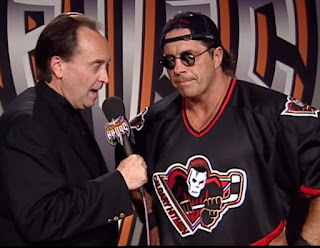 WCW Halloween Havoc 1998 - Mike Tenay interviews Bret 'The Hitman' Hart about his match with Lex Luger
