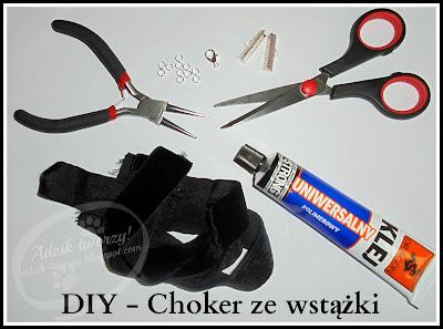 jak zrobić naszyjnik choker diy