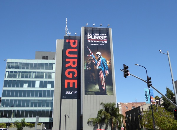 Purge Election Year movie billboard