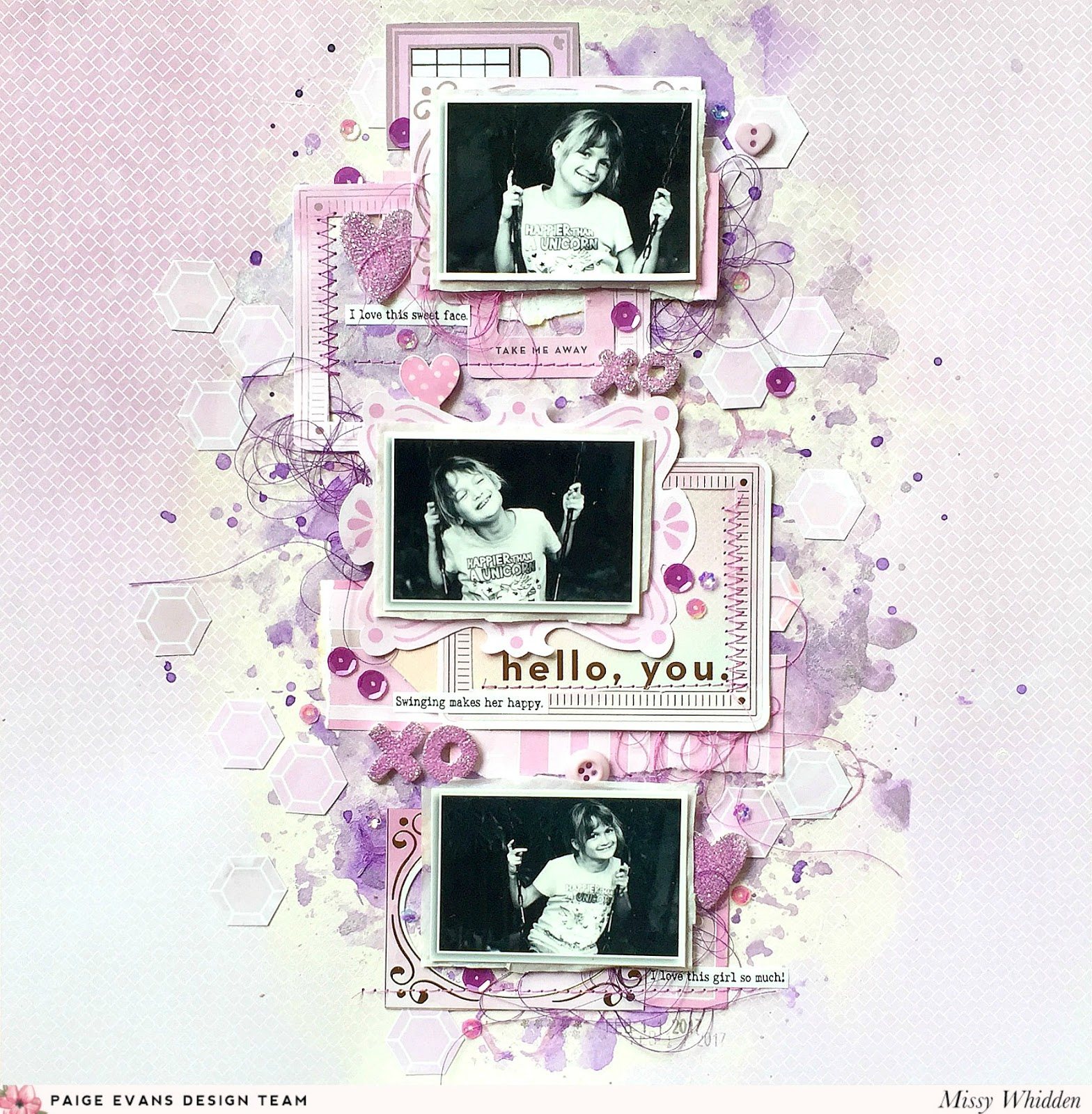 Monochromatic Purple Layout by Missy Whidden | Paige Taylor Evans
