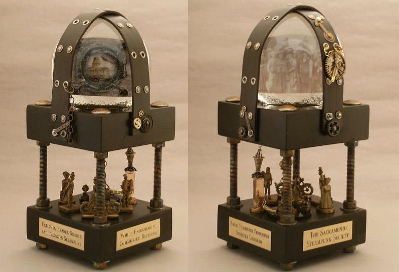 Custom Water globe for the Sacramento Steampunk Society