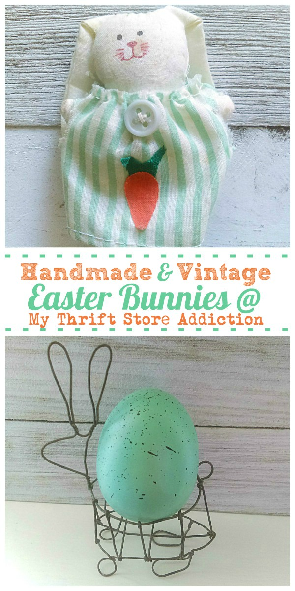 vintage and handmade Easter bunnies