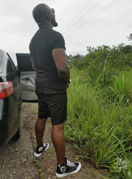 Jim Iyke blasts fan who called him a grown up fool for urinating by the roadside (Photos)