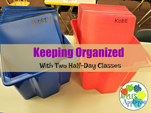 Keeping Organized with Two Half Day Classes | Apples to Applique