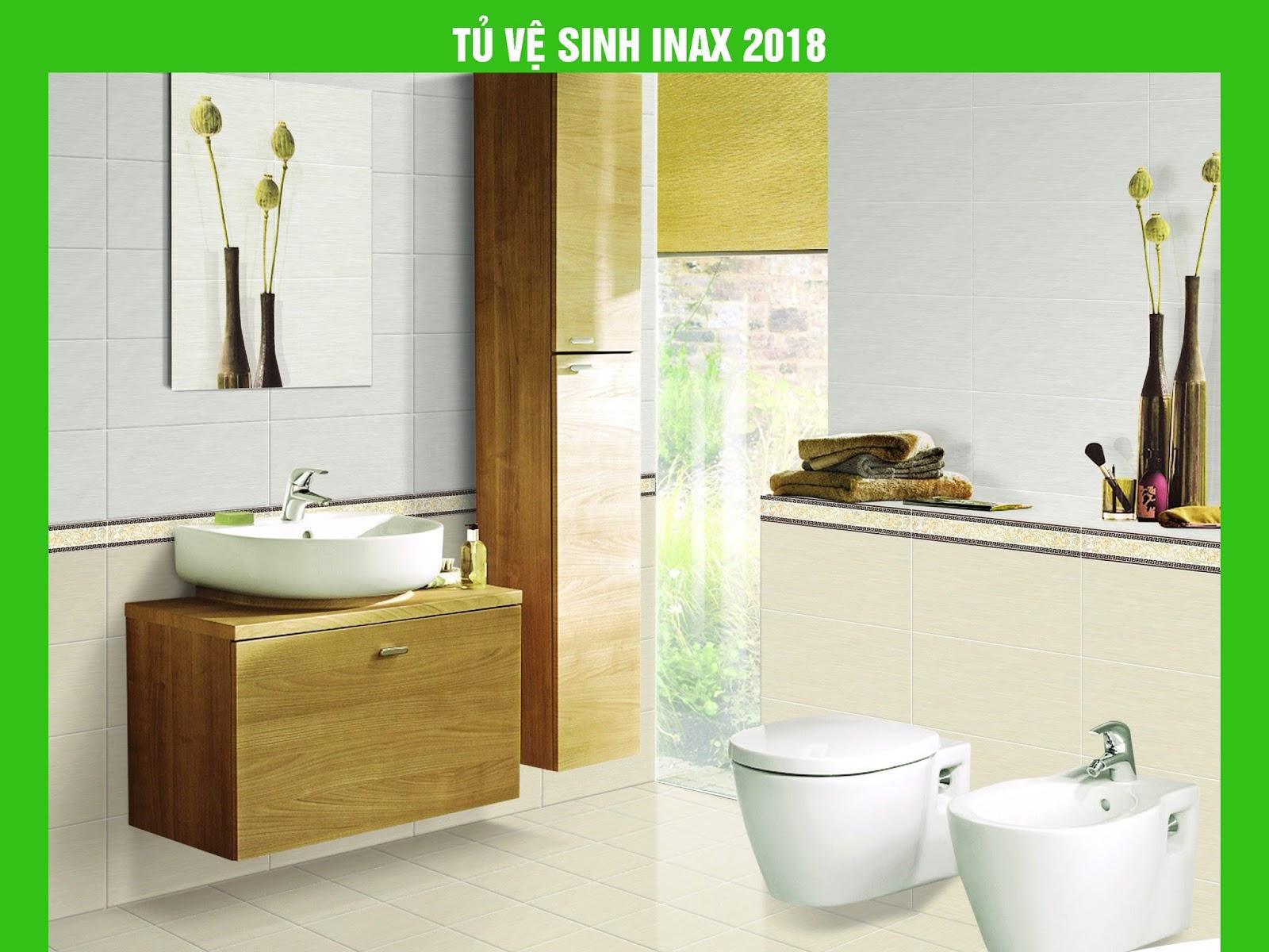 Tủ nhà vệ sinh thiết bị vệ sinh Inax 2018