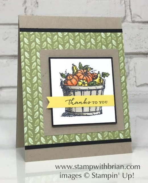 Carte Stampin' Up avec le jeu Basket of Wishes
