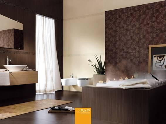 Ba os de color marr n chocolate colores en casa for Fotos de salas de bano