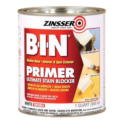 BIN primer for painting over oil-based paint