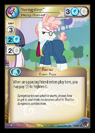 My Little Pony Svengallop, Heavy-Hooved Marks in Time CCG Card