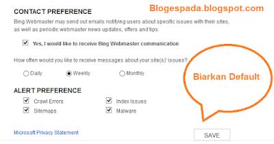 Cara Daftar dan Submit Sitemap di BING 6