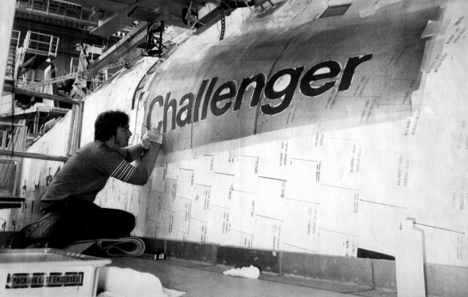My Space Museum Space Shuttle Challenger Payload Bay Liner Photo