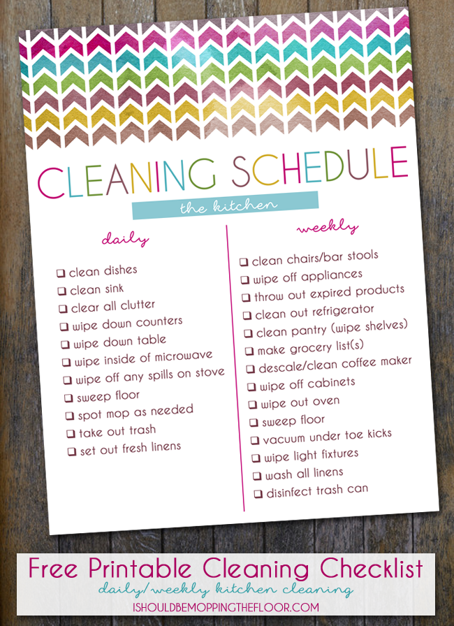 Kitchen Cleaning Routines & Free Printable Cleaning Checklist