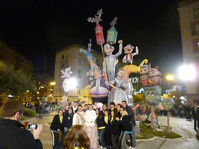Getting Ready to burn the Fallas at the Las Fallas Festival in Valencia, Spain