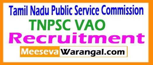 Tamil Nadu PSC VAO Recruitment 2017