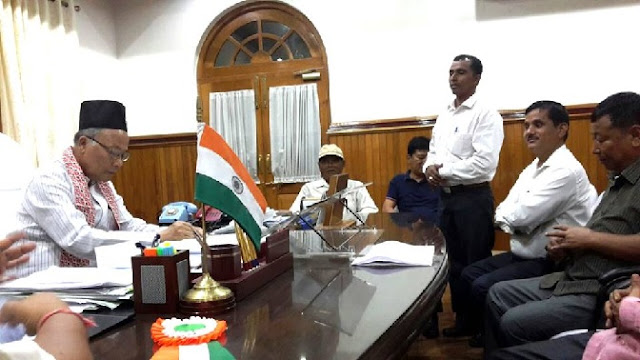 United Gorkha Committee of Manipur delegation met Chief Minister O.Ibobi