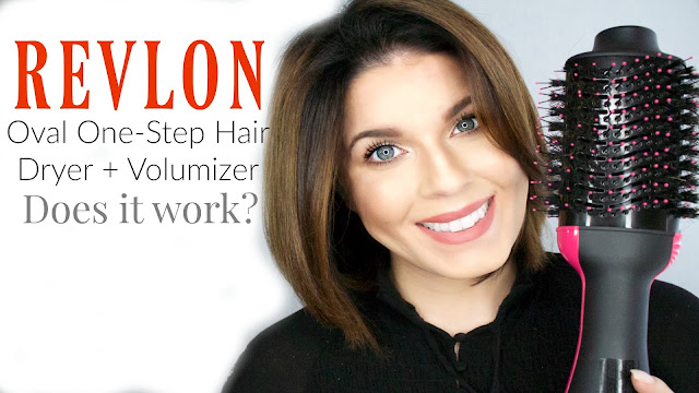 Revlon Oval One Step Hair Dryer and Volumizer Review | @girlythingsby_e