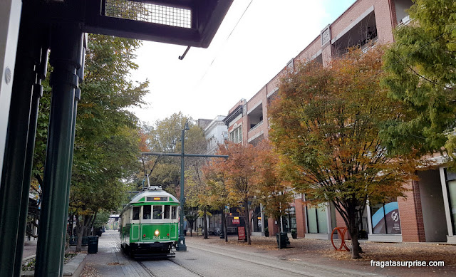 Bonde da Linha de Mais Street, em Memphis