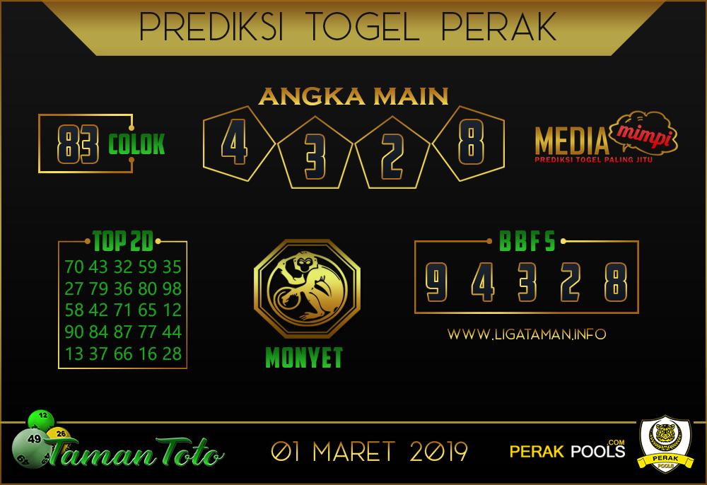 Prediksi Togel PERAK TAMAN TOTO 01 MARET 2019