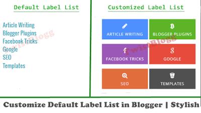 customize default label list gadget in blogger