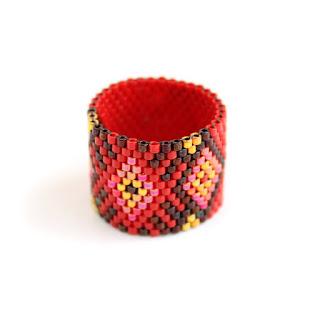 Широкие женские кольца бохо купить в интернет магазине эксклюзивные украшения из бисера