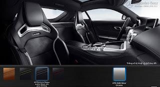 Nội thất Mercedes AMG GT S 2016 màu Đen Leather chỉ Xám 621