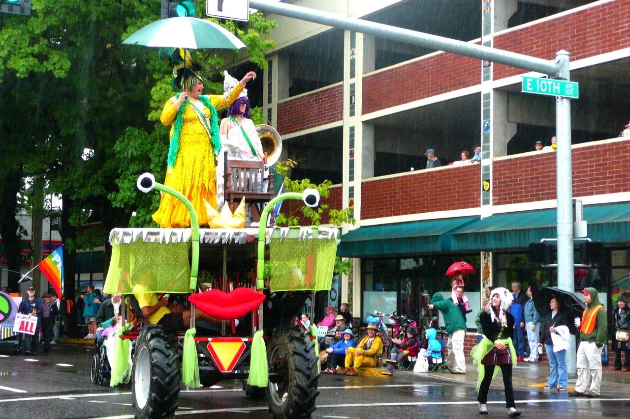 Eugene, slug queen, parade float