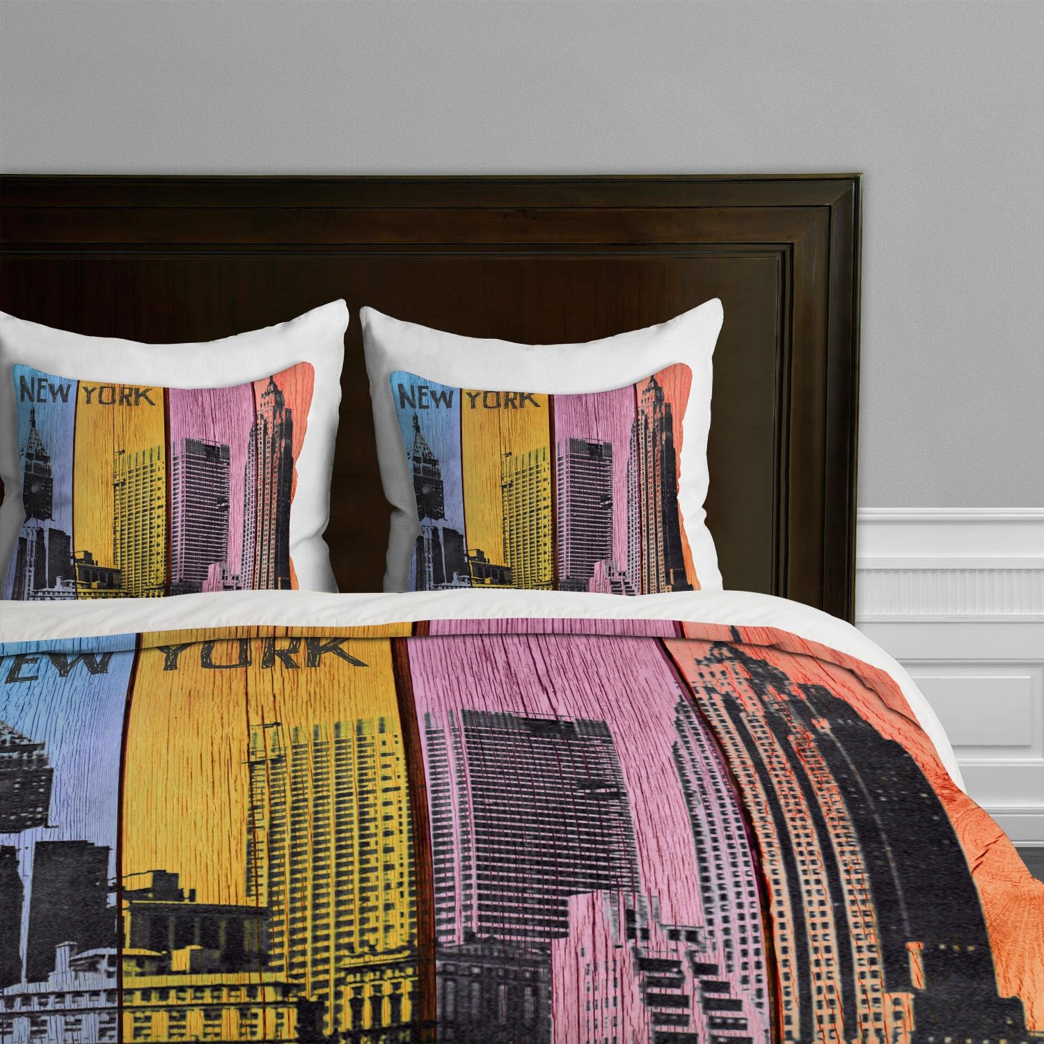 New York City Themed Skyline Comforters Sets, Bedding And