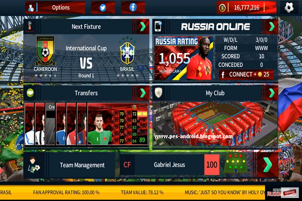 Download Dream League Soccer 2019 Mod Fifa World Cup Russia 2018 Apk Data Obb Pes Android