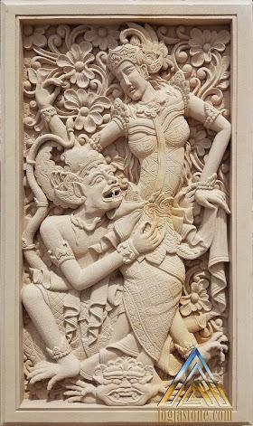 Relief dewi sinta dan hanoman